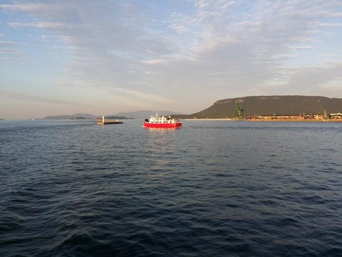 Meon leaving Sunport to Ogijima