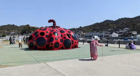 Naoshima March 2021 - 3 - Red Pumpkin