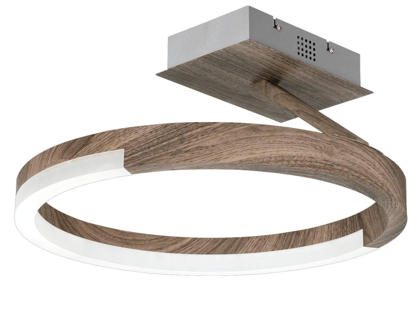 Honsel Design LED Deckenleuchte STICK Holz dimmbar ...