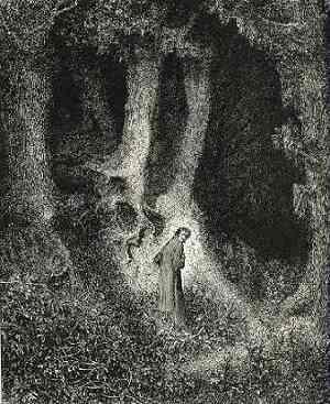 """Dore, """"este bosque salvaje, áspera y dura ..."""""""