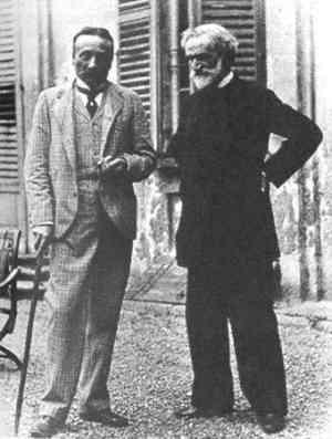 Arrigo Boito con Giuseppe Verdi