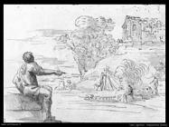 Agostino Tassi Vista al agua alazán Roma
