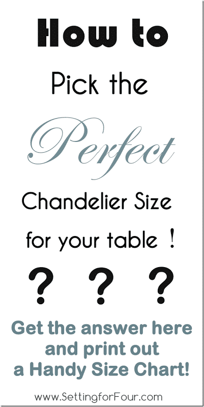 Design Tip How To Pick The Perfect Chandelier Size And Printable Guide Setting For Four
