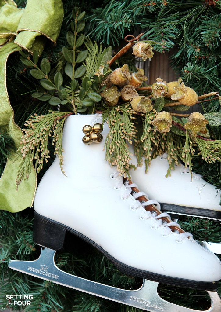 DIY Ice Skate Wreath Decor Quick And Easy Setting For