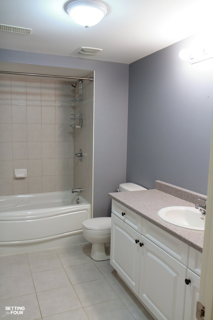 Height Measurements And How To Hang Pictures In A Bathroom Setting For Four