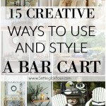 15 Creative Ways To Use And Style A Bar Cart Setting For Four