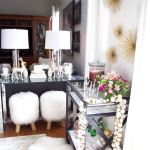 Easy Christmas Bar Cart Decor Styling Ideas Setting For Four