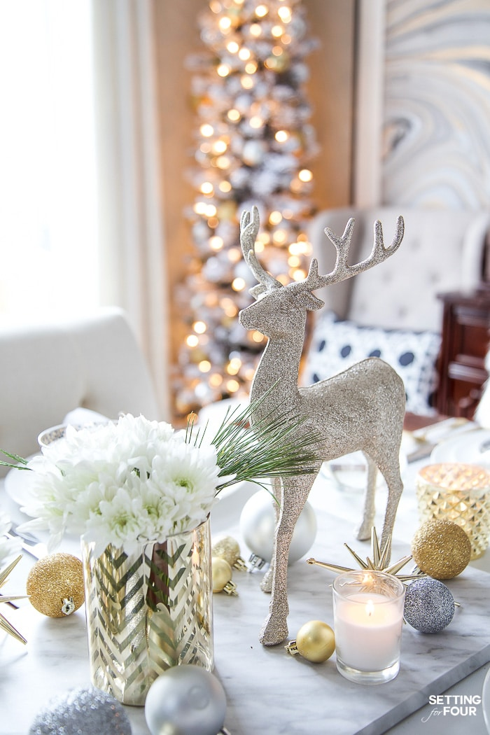 Styled And Set Christmas Table Decor Ideas Setting For Four