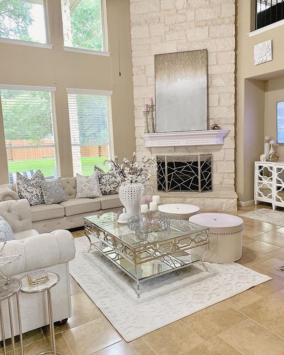 How To Arrange Furniture With A Corner Fireplace Setting For Four