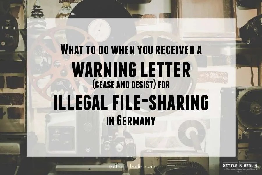 Help me: i was caught illegally downloading in Germany