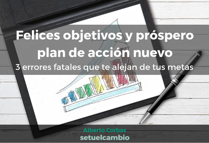 Felices objetivos y próspero plan de acción