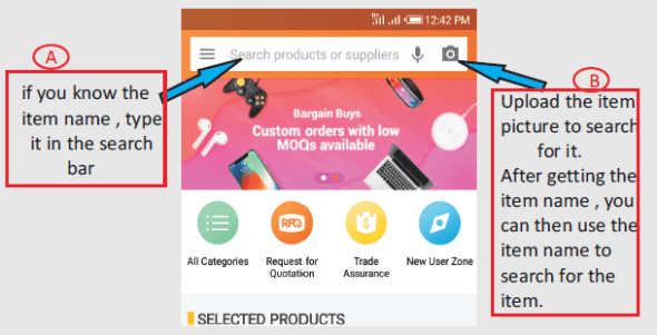 Alibaba search product