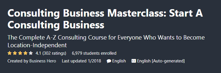 Business consultancy course