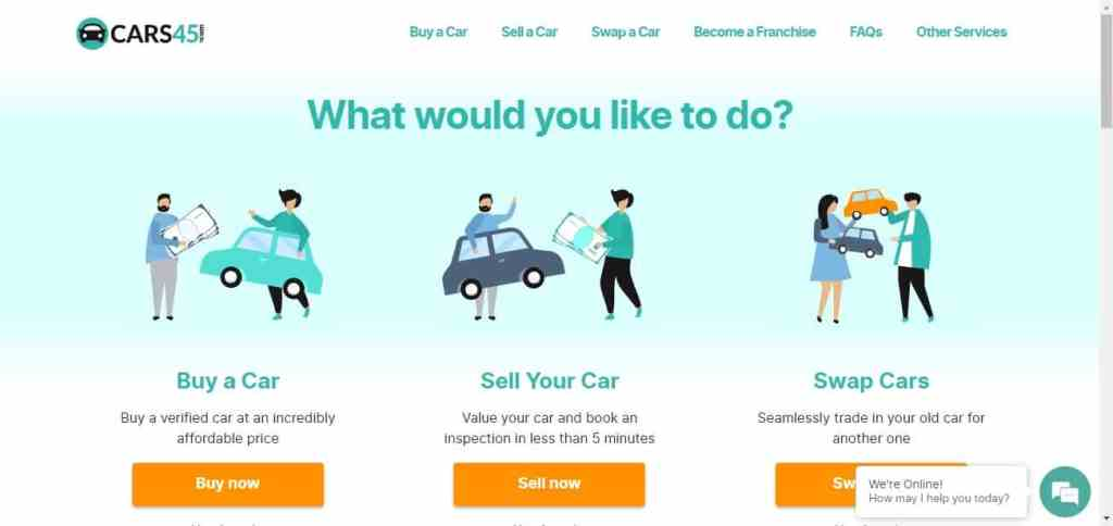 How to sell cars online car45