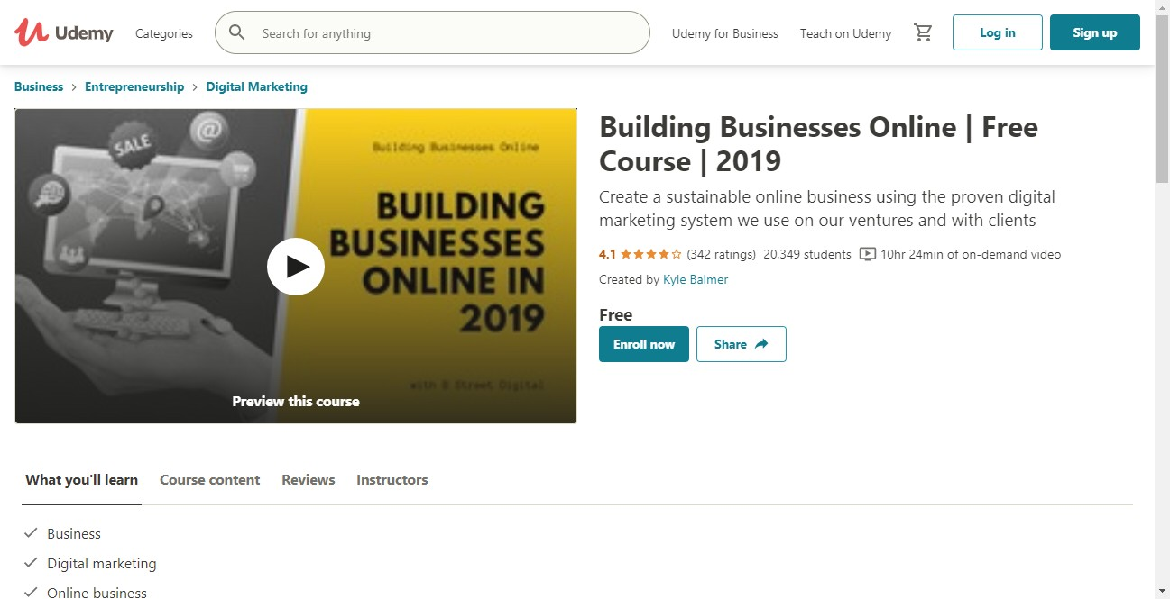 (Free Course) Building Businesses Online