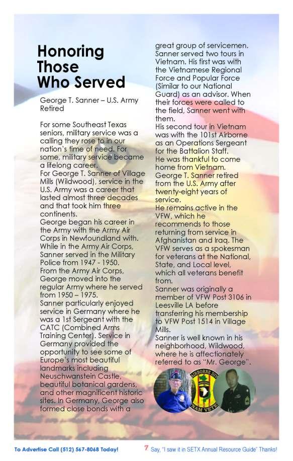 SETX Seniors Magazine George T. Sanner WWII Era Veteran Hardin County Tx_Page_07