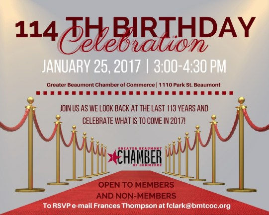 Beaumont Chamber Birthday, Beaumont Chamber Birthday Celebration, Beaumont Chamber Anniversary