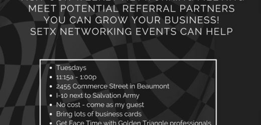 BNI Southeast Texas, BNI Beaumont TX, Networking Meeting Beaumont, Networking meeting Southeast Texas, SETX Networking,