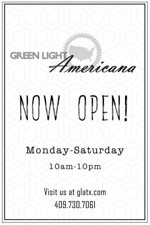 Green Light Americana Beaumont TX, Beaumont Restaurant News, Beaumont restaurant information, Beaumont patio restaurant, wine list Green Light Americana, hand crafted cocktails Beaumont TX
