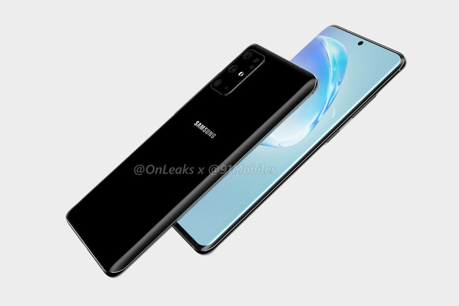 Samsung Galaxy S20+ CAD-based render - Detailed Galaxy S20 series spec sheet reveals all: camera, battery, processor, more