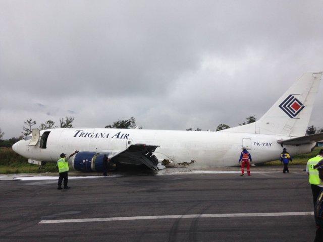 Aterrizaje de terror en Martes 13 en Papua Occidental, Indonesia
