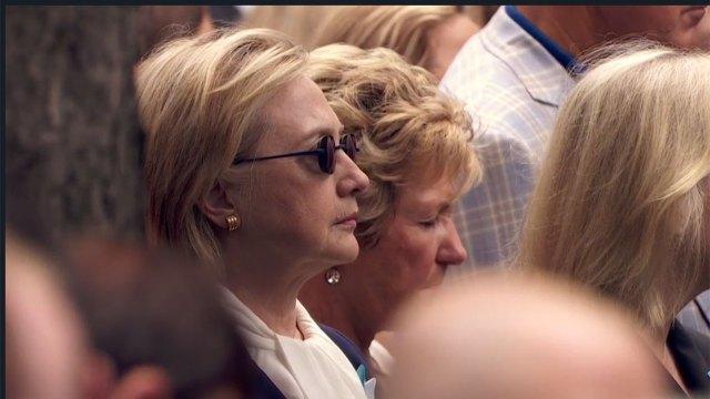 """Por un """"posible desmayo"""" Hillary Clinton abandona la ceremonia del 11-S"""
