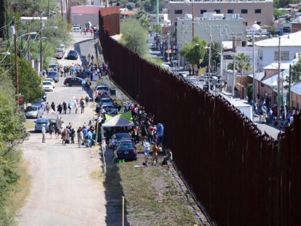 Protesta binacional contra muro en frontera México-EU