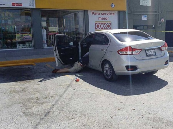 VIDEO: Ejecutan a hombre afuera de tienda en China, Nuevo León