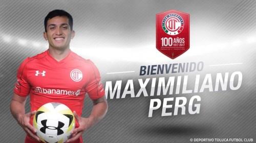 Maximiliano Perg el último refuerzo de Toluca