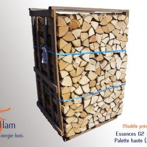 Bois bûche 1er choix Quartier de Mi-saison (essences G2) – 33 cm