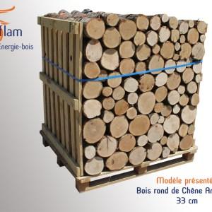 Bois rond 1er choix Nuit d'Hiver (Chêne Américain) – 33 cm