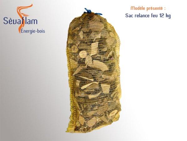 Sac filet relance feu 12 kg | Sèvaflam - Bois de chauffage et allumage