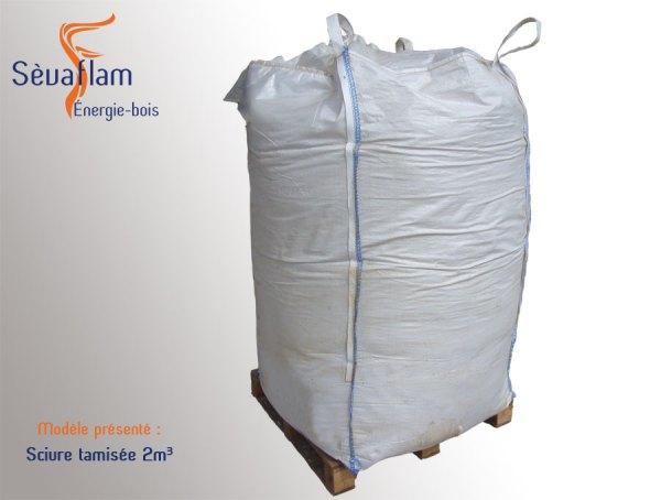 Big bag de sciure tamisée 2m3 | Sèvaflam - Bois de chauffage sur palette