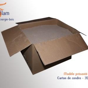 Boîte ou carton de cendre tamisée de résineux et feuillus