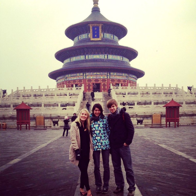 Seven Continets Sasha visiting the Temple of Heaven in Beijing, China