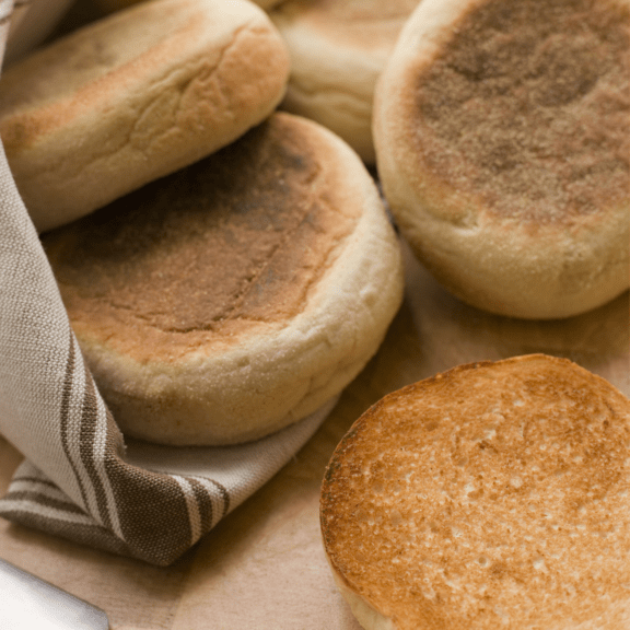Muffins anglais sans beurre