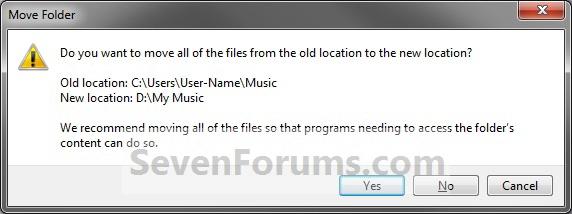 โฟลเดอร์ของผู้ใช้ - Default เปลี่ยนสถานที่ตั้ง properties4.jpg-