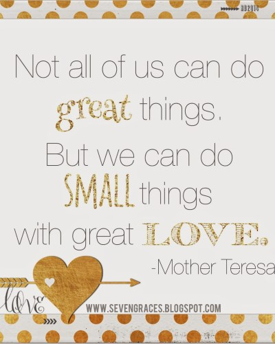 Five on Friday: Small Things, Great Love