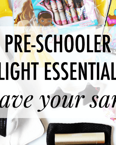 Pre-Schooler Flight Essentials
