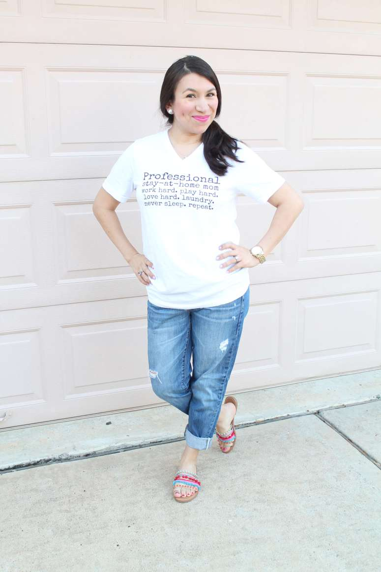 Professional Stay-At-Home Mom tee. Best mama outfit from Malyn Logic.