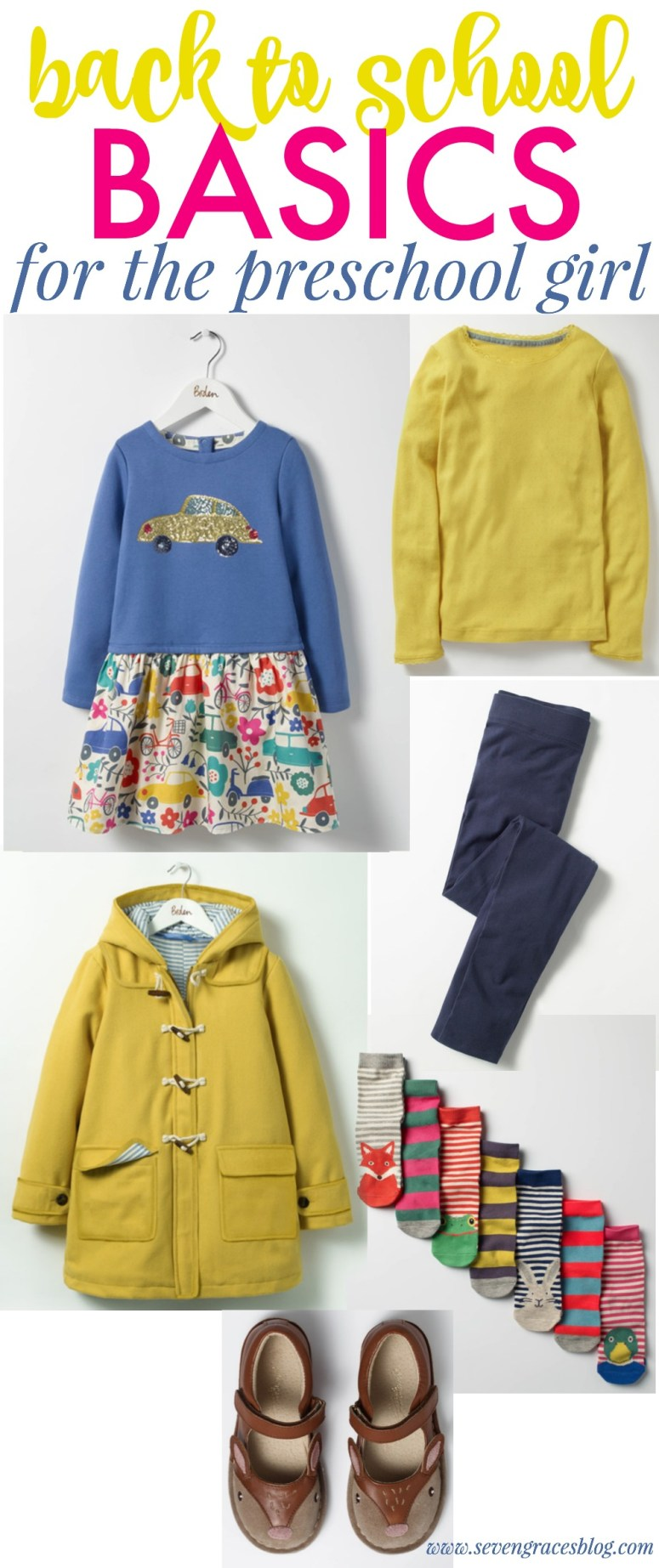 Back to School Mini Fashion: Best School Clothes Basics for the Preschool Girl