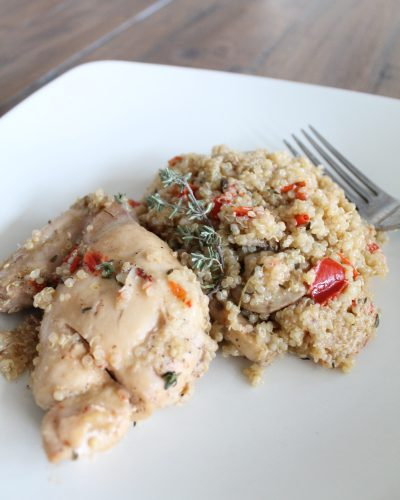 Garlic & Chicken Mushroom Quinoa: A New Family Favorite