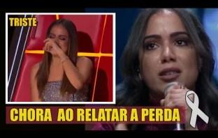 Triste: Anitta não aguenta chora ao vivo ao falar de grande perda que teve