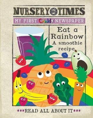 Rainbow Smoothie Crinkly Newspaper by