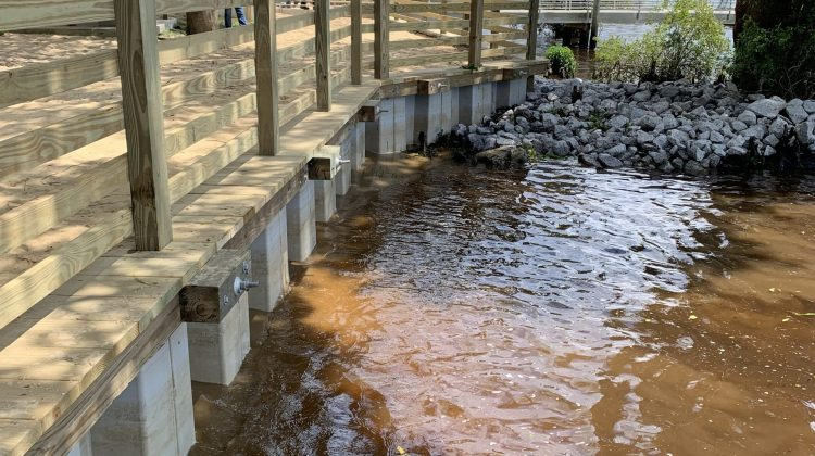 Marine Construction Dock Walkway Builders Vinyl Bulkhead Bank Stabilization Seawall Install in Georgetown County