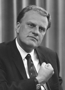 Billy Graham photo black and white