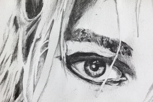 Graham Dolphin, Fan Drawings (Kurt Cobain), Detail 1