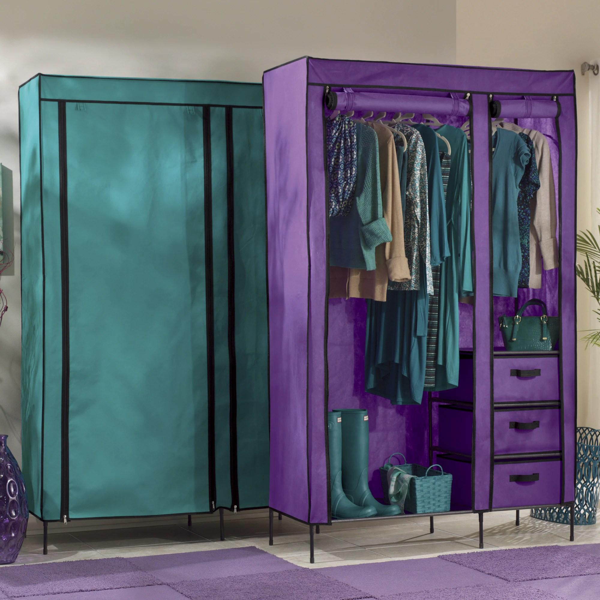 Colorful Storage Wardrobe Seventh Avenue