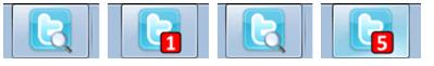 twitter dans la barre des tâches Windows 7