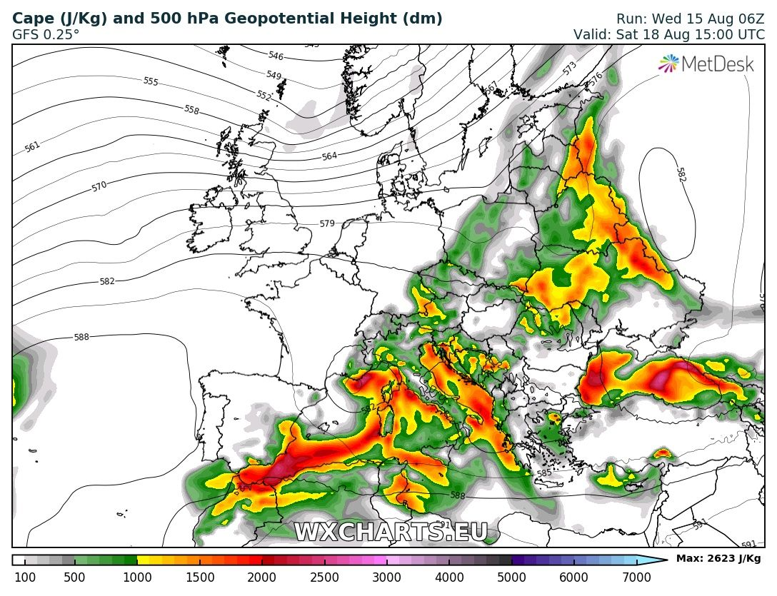 Pattern Overview Through Early Next Week Aug 16 21 Severe Weather Europe